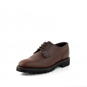 Zapato 3004-1 Serraje Castaña / Box Marrón