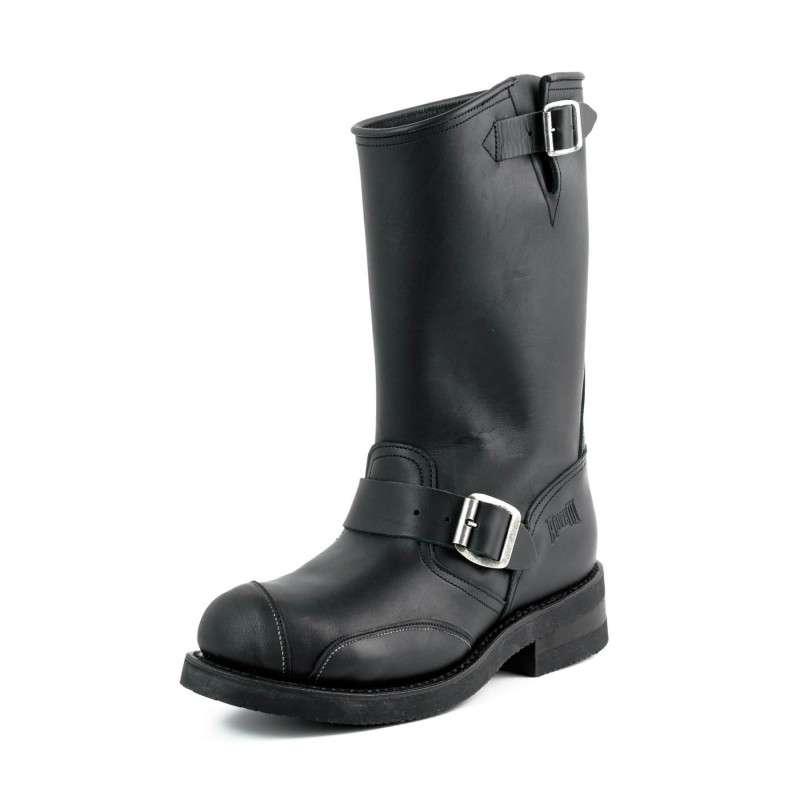 Mayura biker boots Model 1592-6 in Pull Oil Negro