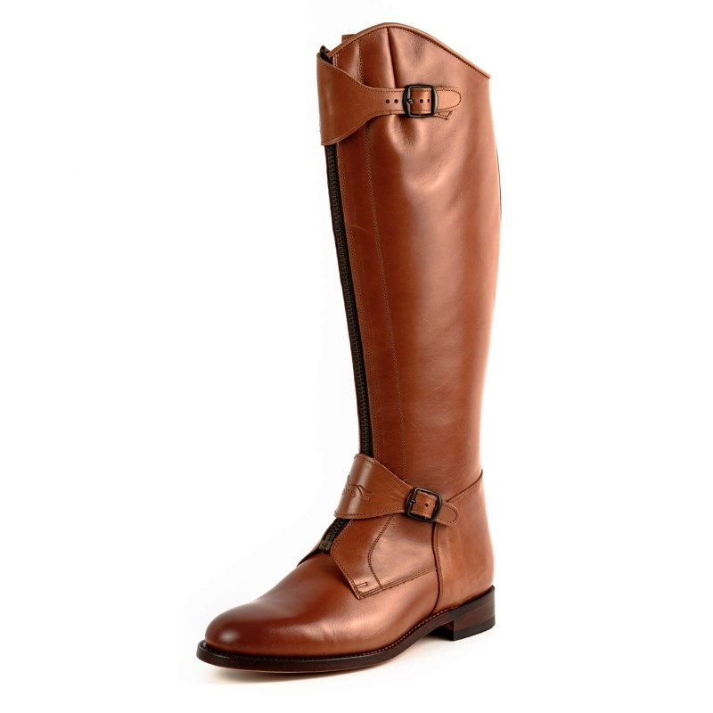 El Estribo boots Model 1231-SE in Vaqueta Bronce