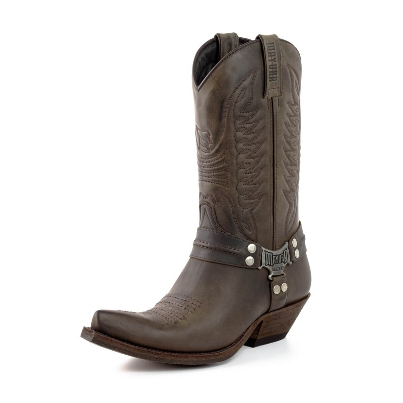 Mayura cowboy boot Model 13 in Nairobi Ceniza