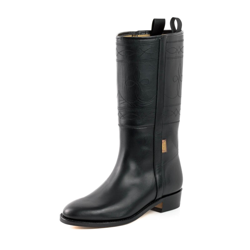 El Estribo boots Model 1322 in Box Negro