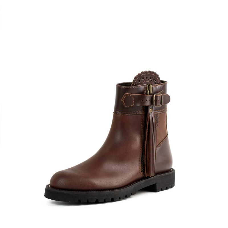 El Estribo boots Model 1232-18-1 in Serraje Castana - Box Marron