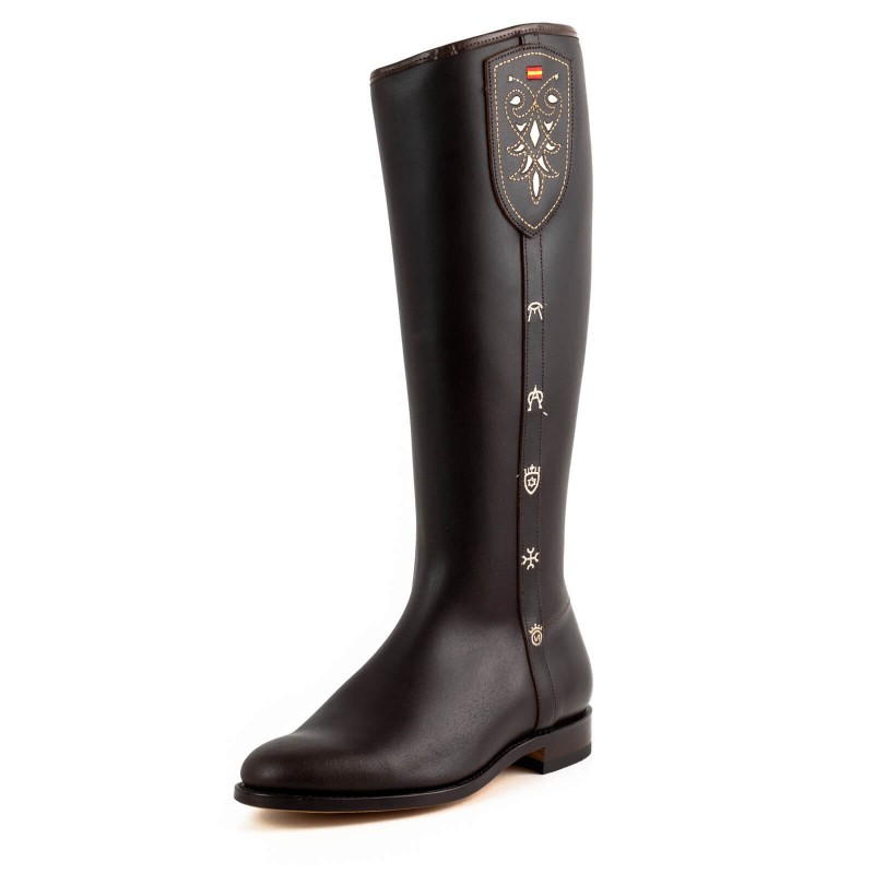 El Estribo boots Model 2349 in Serraje Castana
