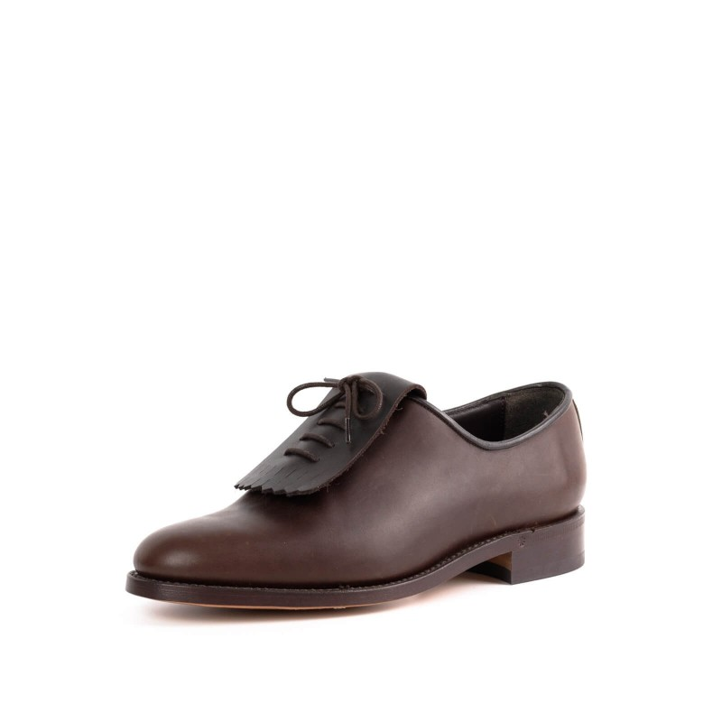 Shoe 3002 in Ternera Flor Marron
