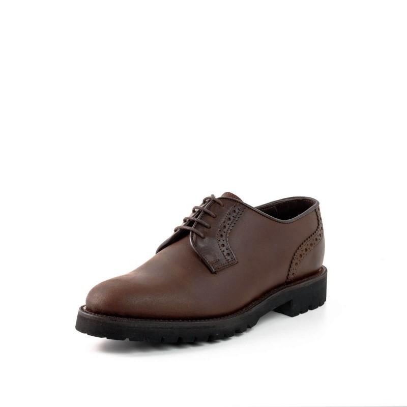 Zapato 3004-1 Vacuno Engrasado Castaña / Box Marrón