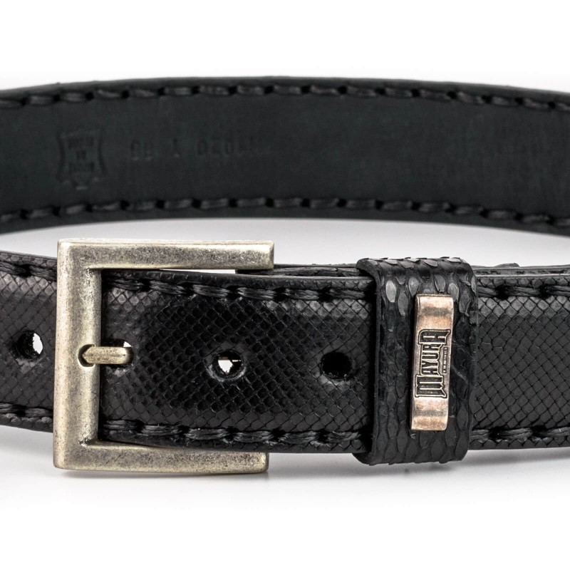 Mayura Belt in Black Python
