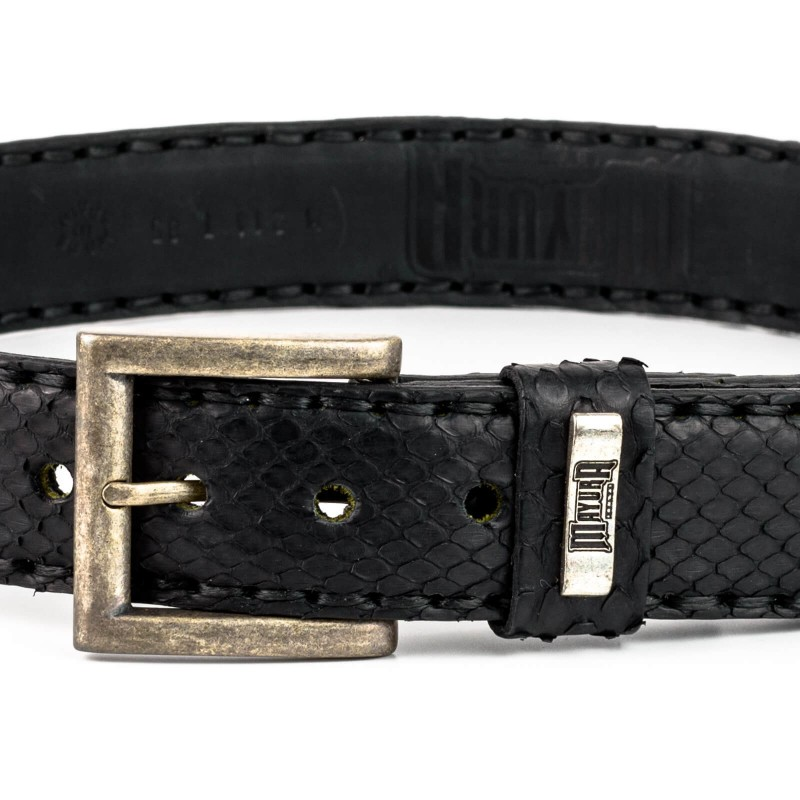 Mayura Belt in Crocodile / Python Black