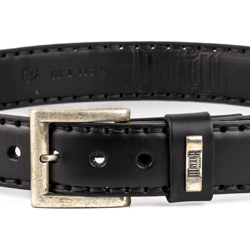 Belt in Black Vacuno / Natural Python