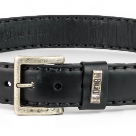 Belt in Black Vacuno / Natural Python