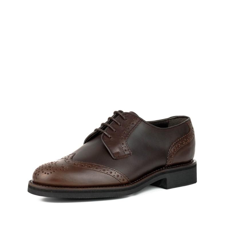 Zapato 3005-2 in Vacuno Engrasado Castaña / Box Marrón