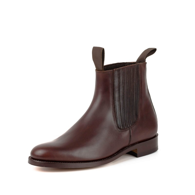 Moulding boot El Estribo 1692-1 Ternera Flor Marron
