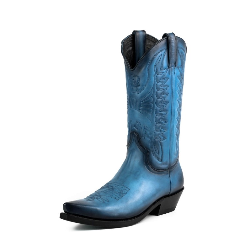 Cowboy boot 1920 Blue Vintage