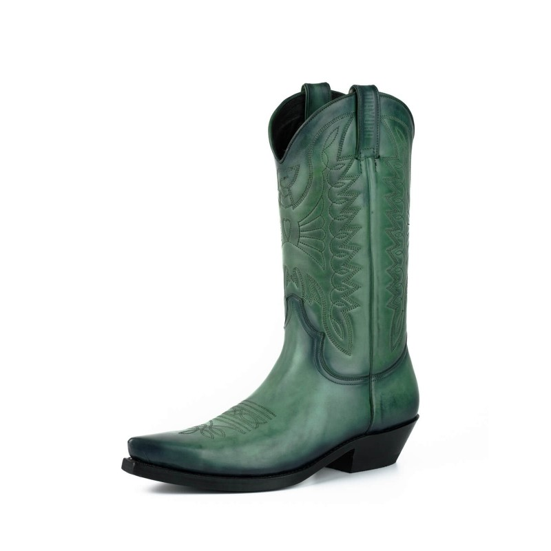 Cowboy boot 1920 Green Vintage