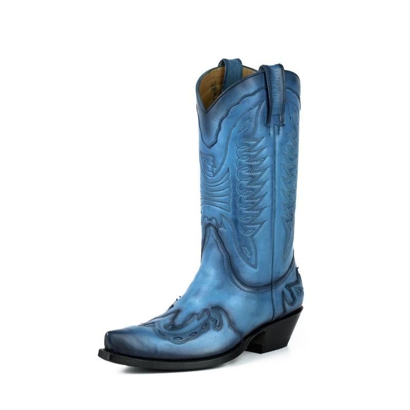Cowboy boot 17 Blue Vintage