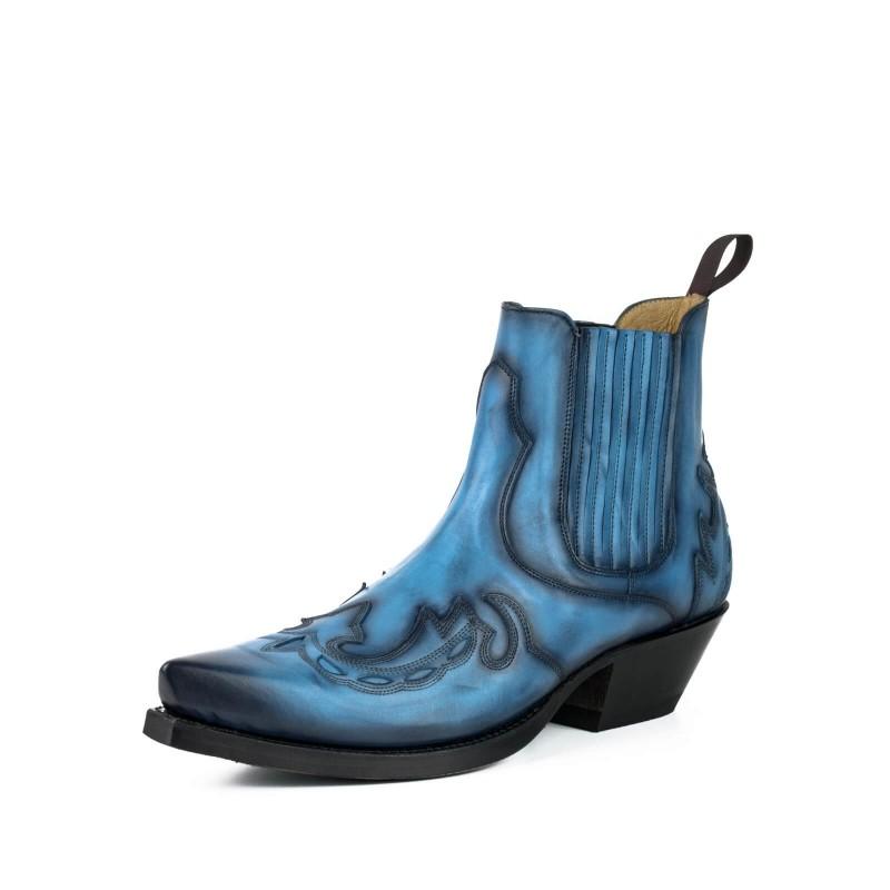 Bota de cowboy 37 Vintage Azul
