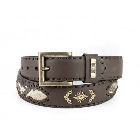 Belt in Castana Vacuno / Natural Python
