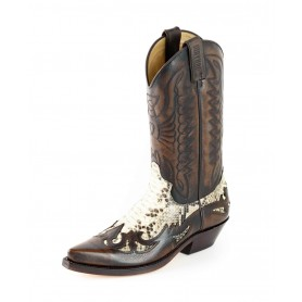 Mayura cowboy boots Model 1935-C in Milanelo Zamora - Natural Phyton